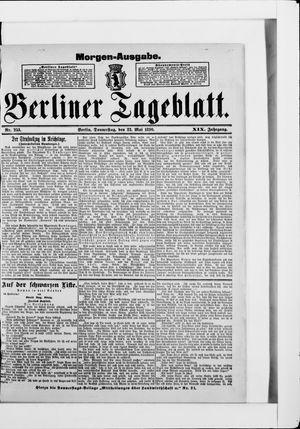 Berliner Tageblatt und Handels-Zeitung vom 22.05.1890