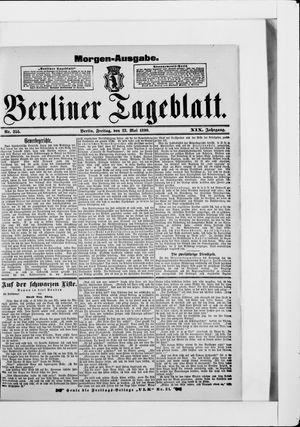 Berliner Tageblatt und Handels-Zeitung vom 23.05.1890
