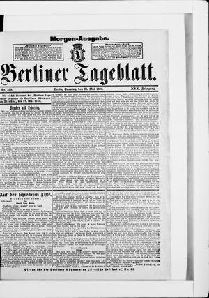 Berliner Tageblatt und Handels-Zeitung vom 25.05.1890