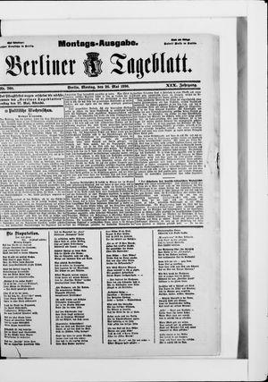 Berliner Tageblatt und Handels-Zeitung vom 26.05.1890