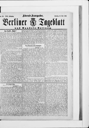 Berliner Tageblatt und Handels-Zeitung vom 27.05.1890