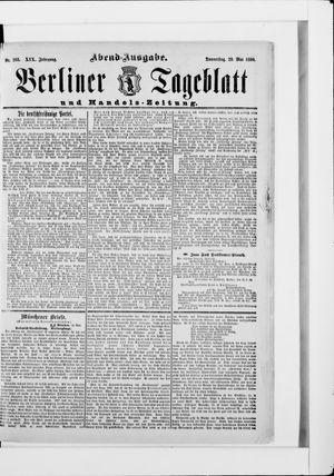 Berliner Tageblatt und Handels-Zeitung vom 29.05.1890