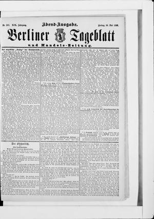 Berliner Tageblatt und Handels-Zeitung vom 30.05.1890