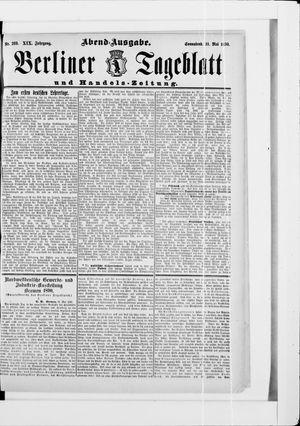 Berliner Tageblatt und Handels-Zeitung vom 31.05.1890