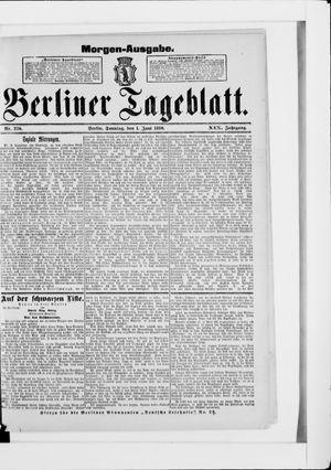 Berliner Tageblatt und Handels-Zeitung vom 01.06.1890