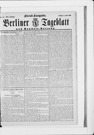Berliner Tageblatt und Handels-Zeitung vom 03.06.1890