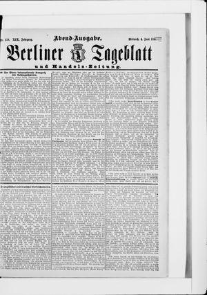Berliner Tageblatt und Handels-Zeitung vom 04.06.1890