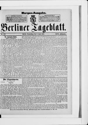 Berliner Tageblatt und Handels-Zeitung vom 05.06.1890