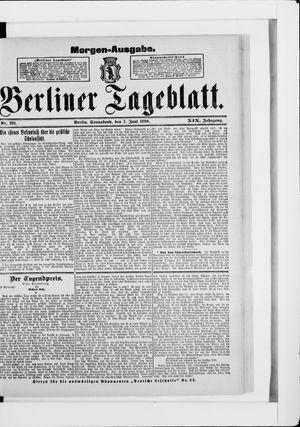 Berliner Tageblatt und Handels-Zeitung vom 07.06.1890