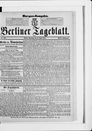 Berliner Tageblatt und Handels-Zeitung vom 08.06.1890