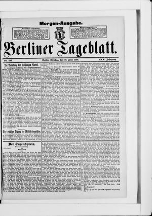Berliner Tageblatt und Handels-Zeitung vom 10.06.1890