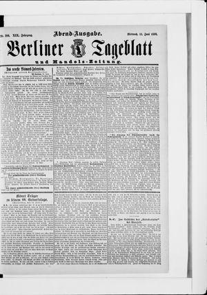 Berliner Tageblatt und Handels-Zeitung vom 11.06.1890