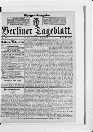 Berliner Tageblatt und Handels-Zeitung vom 12.06.1890