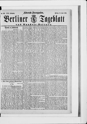 Berliner Tageblatt und Handels-Zeitung vom 13.06.1890