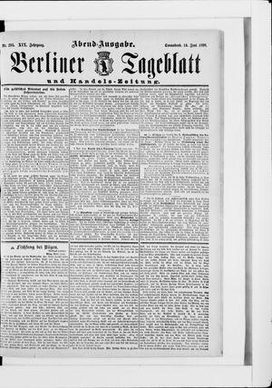 Berliner Tageblatt und Handels-Zeitung vom 14.06.1890