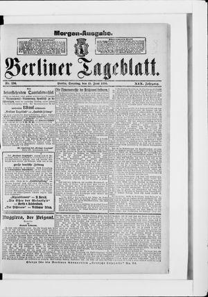 Berliner Tageblatt und Handels-Zeitung vom 15.06.1890