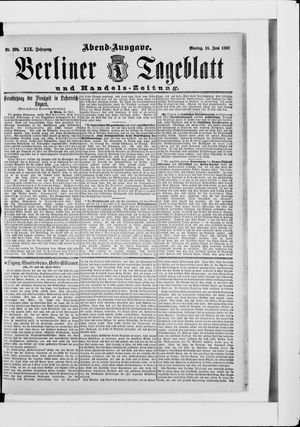 Berliner Tageblatt und Handels-Zeitung vom 16.06.1890