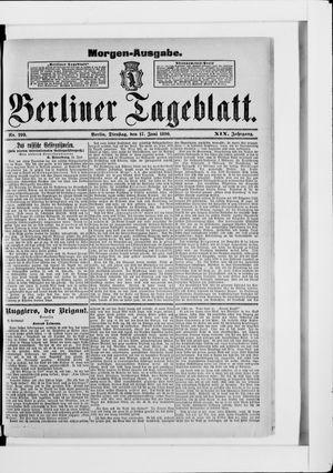 Berliner Tageblatt und Handels-Zeitung vom 17.06.1890