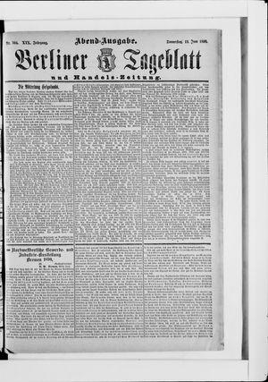 Berliner Tageblatt und Handels-Zeitung vom 19.06.1890