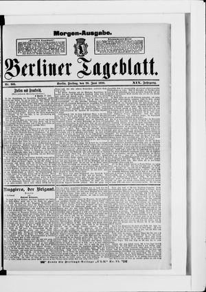 Berliner Tageblatt und Handels-Zeitung vom 20.06.1890