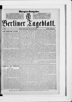 Berliner Tageblatt und Handels-Zeitung vom 21.06.1890