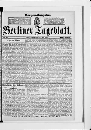 Berliner Tageblatt und Handels-Zeitung vom 22.06.1890