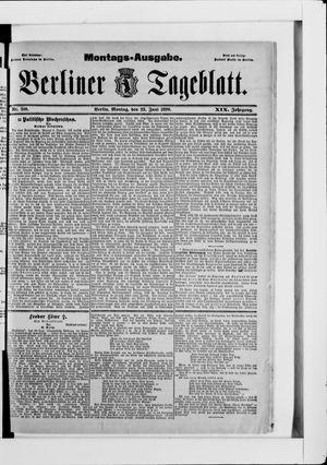 Berliner Tageblatt und Handels-Zeitung vom 23.06.1890