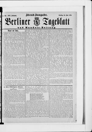 Berliner Tageblatt und Handels-Zeitung vom 24.06.1890