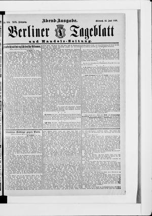 Berliner Tageblatt und Handels-Zeitung vom 25.06.1890