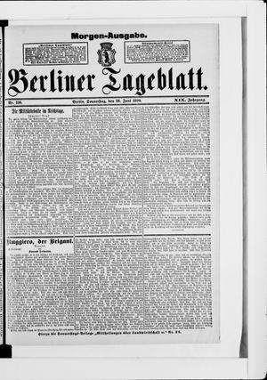 Berliner Tageblatt und Handels-Zeitung vom 26.06.1890