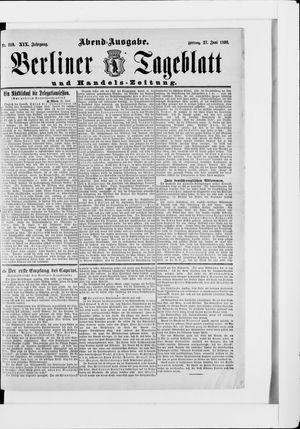 Berliner Tageblatt und Handels-Zeitung vom 27.06.1890