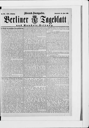 Berliner Tageblatt und Handels-Zeitung vom 28.06.1890