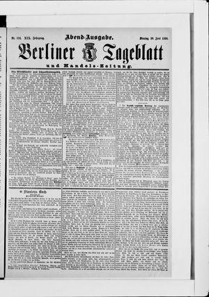 Berliner Tageblatt und Handels-Zeitung vom 30.06.1890