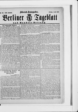 Berliner Tageblatt und Handels-Zeitung vom 01.07.1890