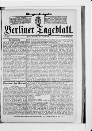Berliner Tageblatt und Handels-Zeitung vom 03.07.1890