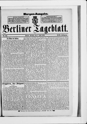 Berliner Tageblatt und Handels-Zeitung vom 04.07.1890