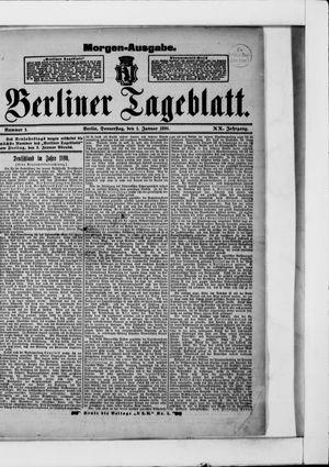 Berliner Tageblatt und Handels-Zeitung vom 01.01.1891