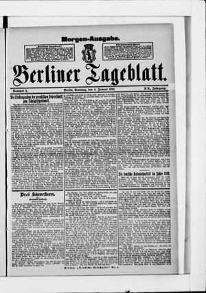 Berliner Tageblatt und Handels-Zeitung vom 04.01.1891