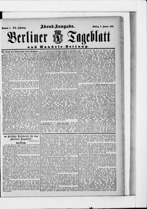 Berliner Tageblatt und Handels-Zeitung vom 05.01.1891