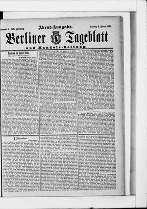 Berliner Tageblatt und Handels-Zeitung vom 06.01.1891