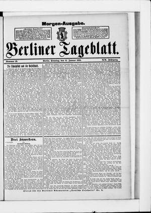 Berliner Tageblatt und Handels-Zeitung vom 11.01.1891