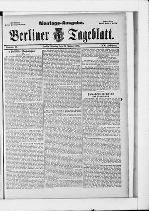 Berliner Tageblatt und Handels-Zeitung vom 12.01.1891