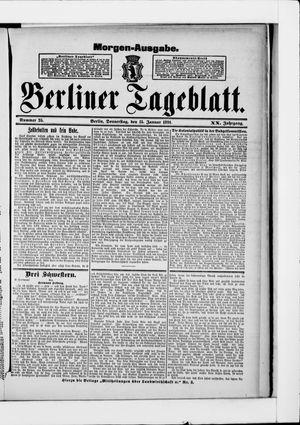 Berliner Tageblatt und Handels-Zeitung vom 15.01.1891