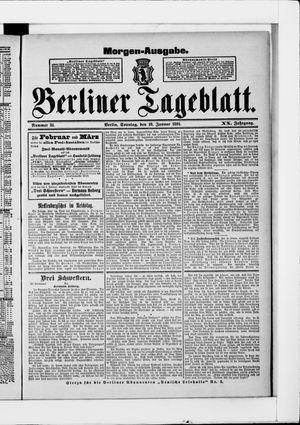 Berliner Tageblatt und Handels-Zeitung vom 18.01.1891