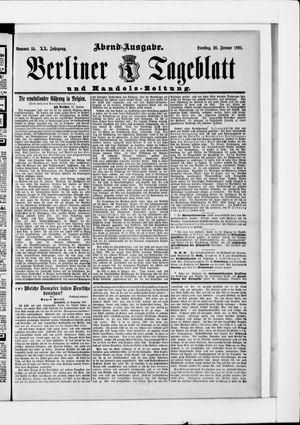 Berliner Tageblatt und Handels-Zeitung vom 20.01.1891