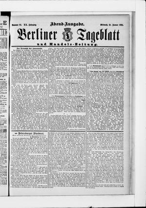 Berliner Tageblatt und Handels-Zeitung vom 21.01.1891