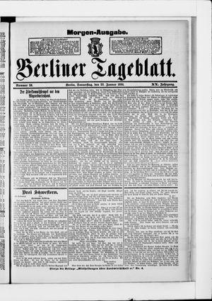 Berliner Tageblatt und Handels-Zeitung vom 22.01.1891