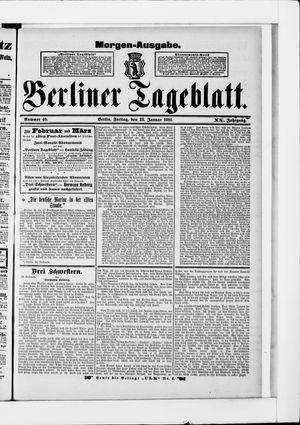 Berliner Tageblatt und Handels-Zeitung vom 23.01.1891