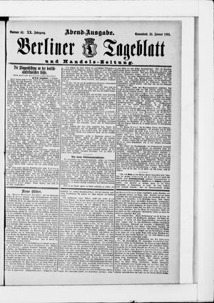 Berliner Tageblatt und Handels-Zeitung vom 24.01.1891