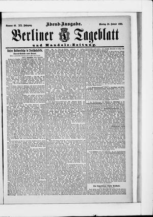 Berliner Tageblatt und Handels-Zeitung vom 26.01.1891